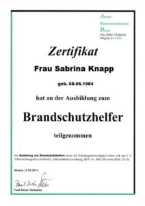 Brandschutzhelfer S. Knapp